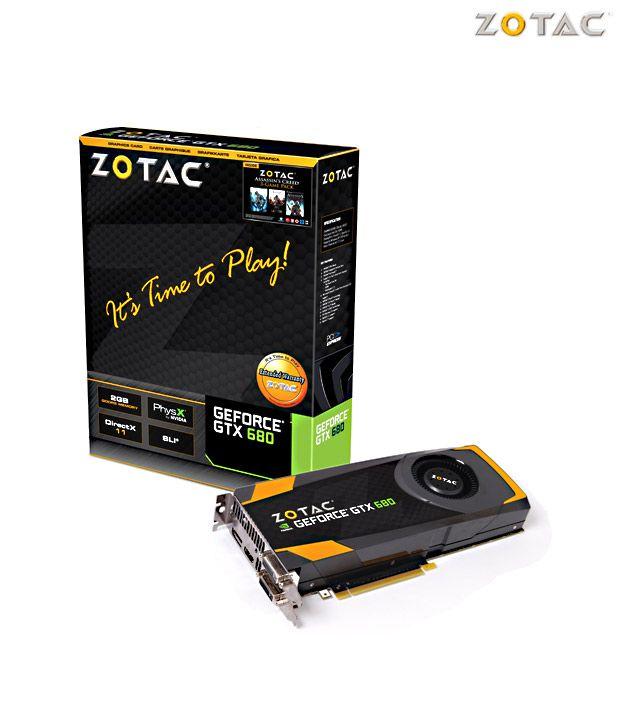 ZOTAC NVIDIA GeForce GTX 680  2GB DDR5 Graphics Card