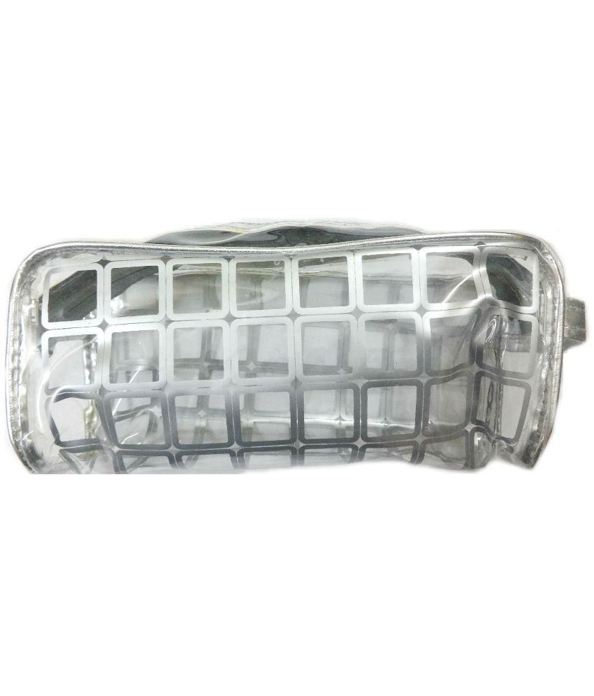 Aardee Silver Travel Pouch for Men and Women