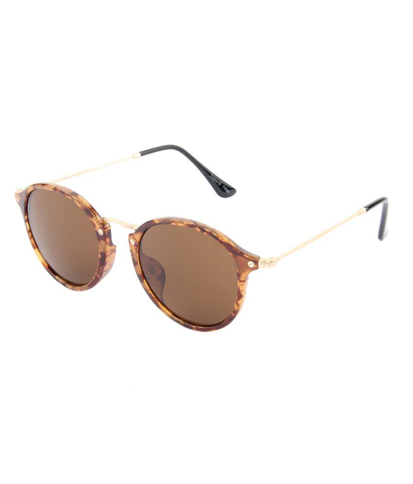 cc13b00110b Farenheit Brown Small Round Sunglasses For Men   Women - Buy Farenheit  Brown Small Round Sunglasses For Men   Women Online at Low Price - Snapdeal