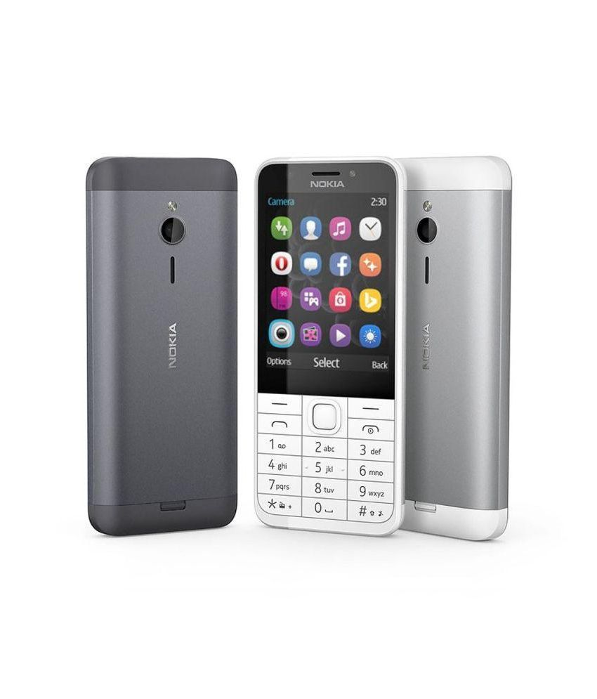 Nokia 230 (Dark Silver) - Feature Phone Online at Low Prices ...