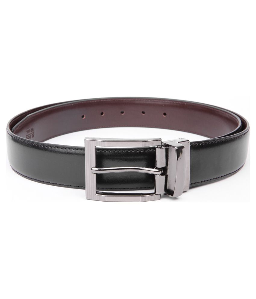 Chisel Black Leather Pin Buckle Belt for Men