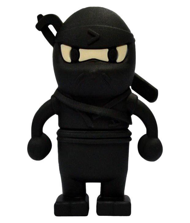 Quace 16 GB Black Ninja Pen Drives Black