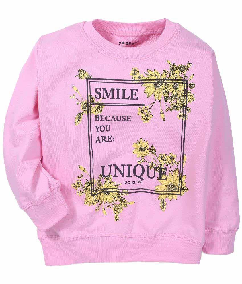 Doreme Pink Cotton Blend Sweatshirt