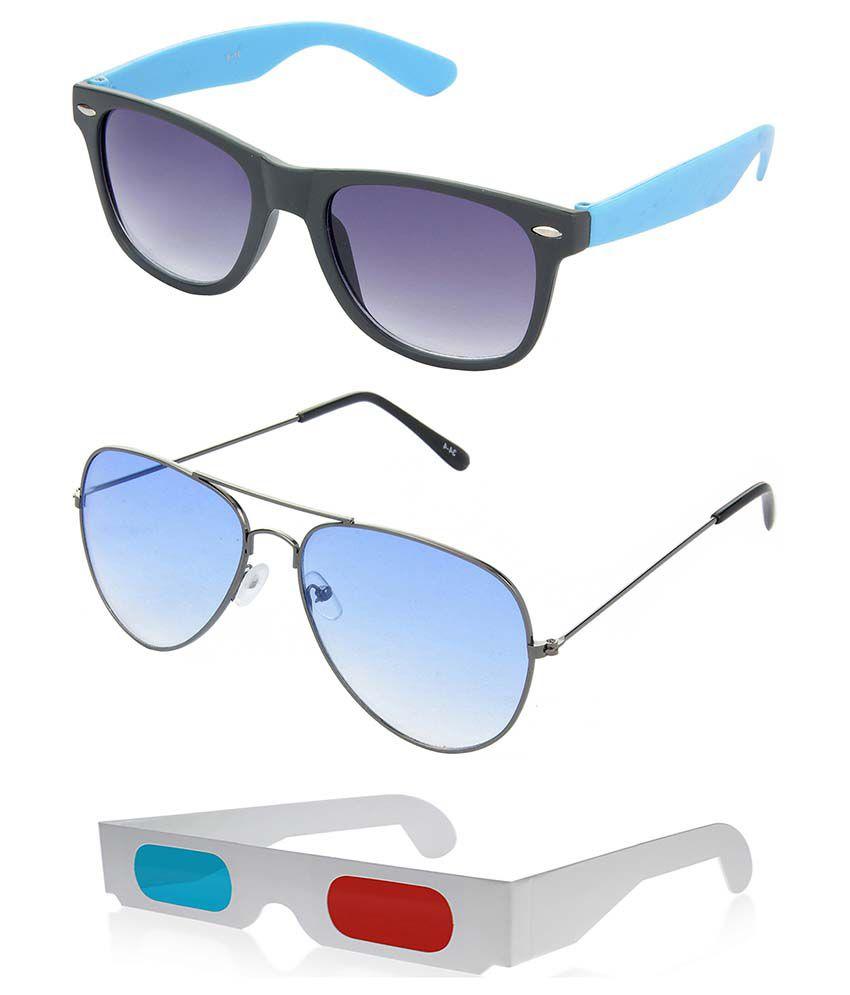 Hrinkar Hcmb447 Multicolor Wayfarer Sunglasses - Combo Of 3