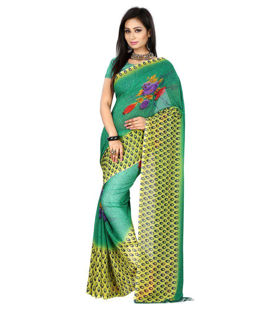 Style Adda Green Silk Saree