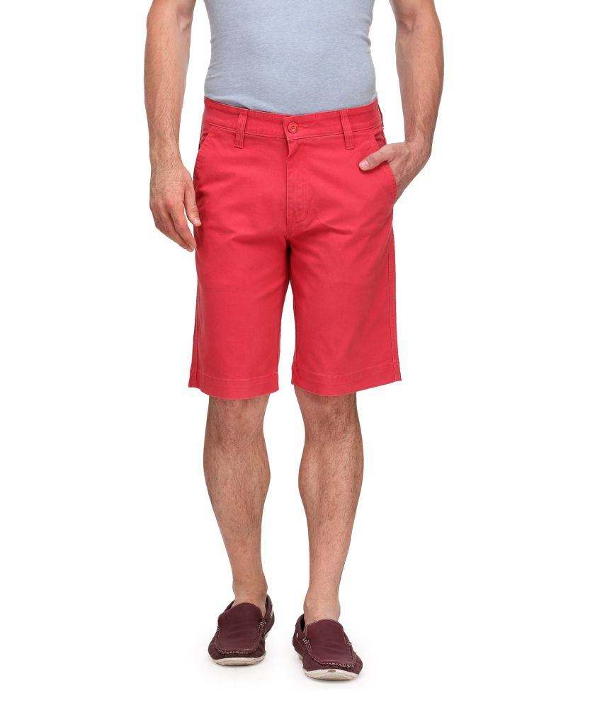 Wear Your Mind Red Cotton Blend Solid Three Frouths