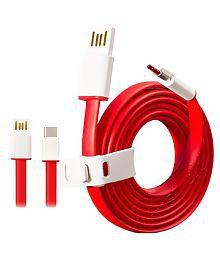 OnePlus Red Type C Data Cable for Oneplus, LeTv, Google, Motorola, Samsung, Lenovo, Xiaomi, Coolpad, Honor, Nokia, Oppo