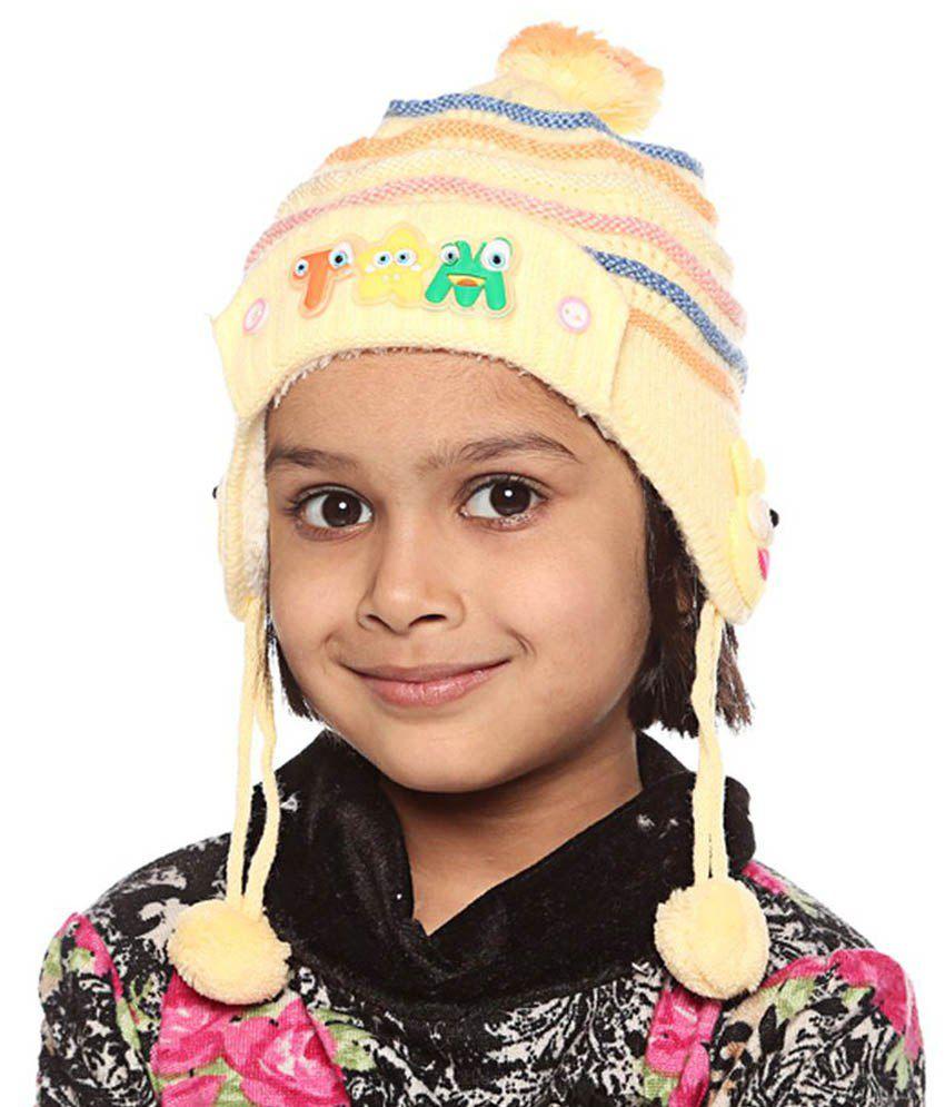 Bizarro.in Multicolour Woollen Caps For Kids