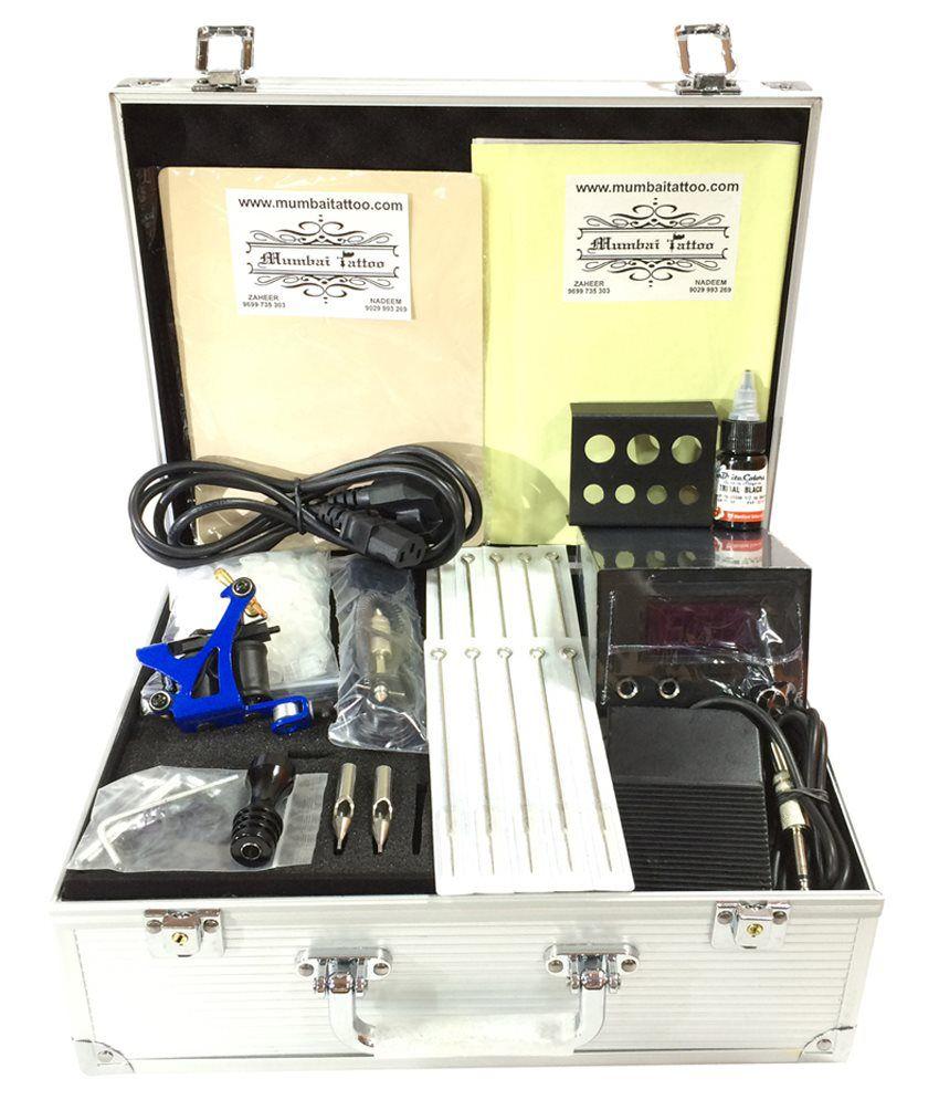 Mumbai tattoo silver tattoo machine kit buy online at for Tattoo machine online shopping in india