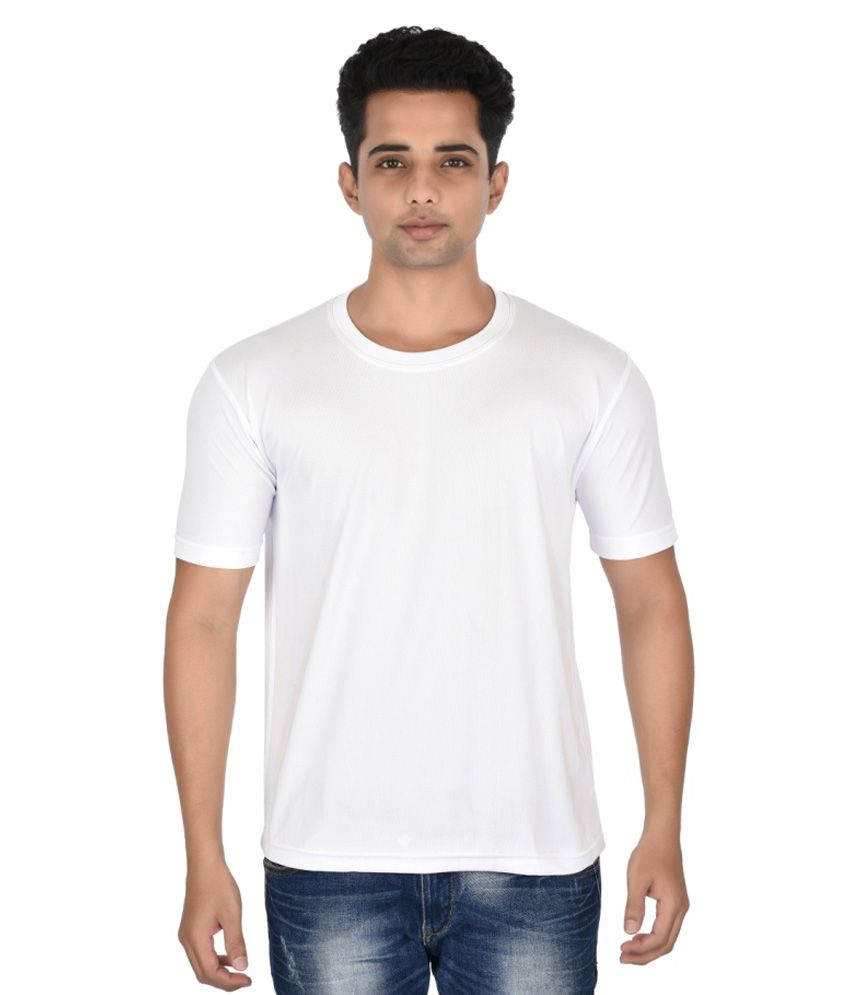 Zorilla White Cotton Blend T-shirt