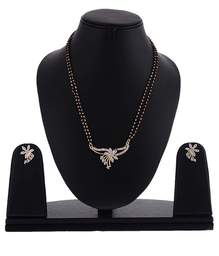 Zeneme American Diamond Mangalsutra Set