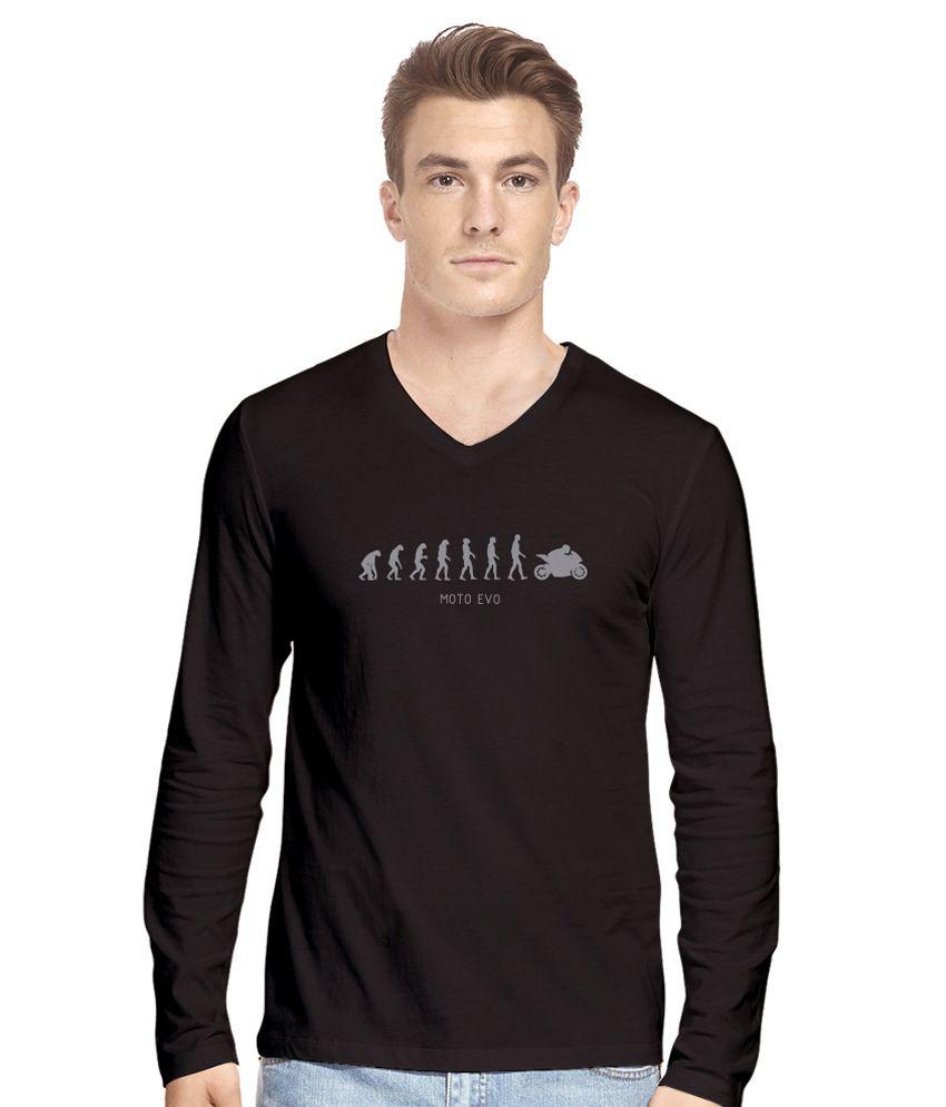 Hueman Black Cotton T-Shirt
