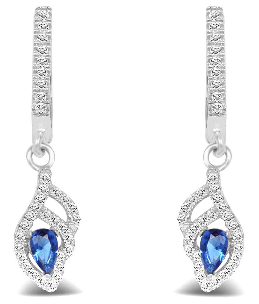 Johareez 92.5 Sterling Silver Huggie Earrings