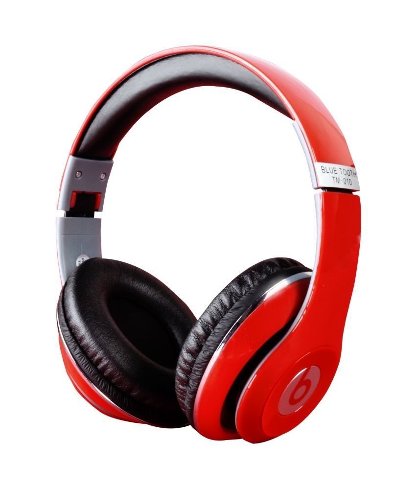 Life Like TM-010S Over The Ear Wireless Bluetooth Headphone With Mic - Red