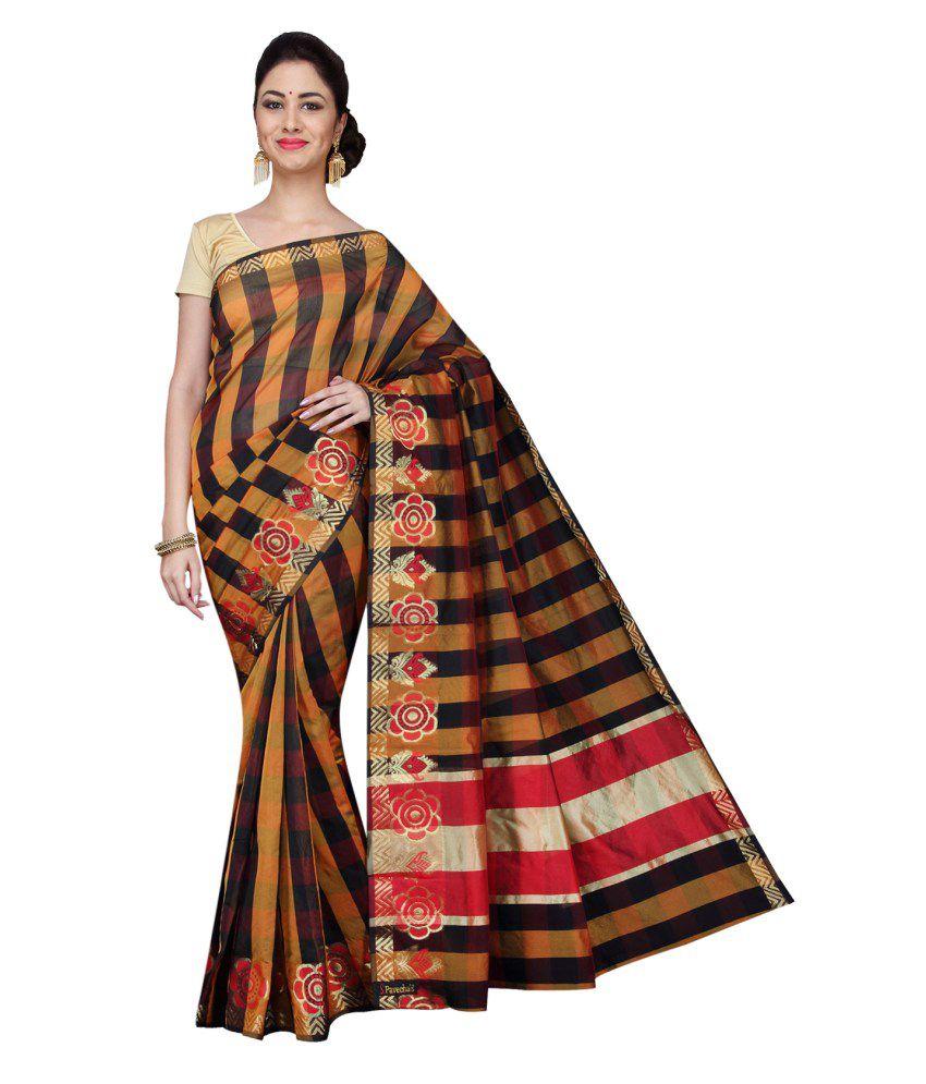 Pavecha's Multicoloured Cotton Silk Saree