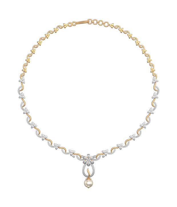 I Love Diamonds Lily of the Valley Necklace