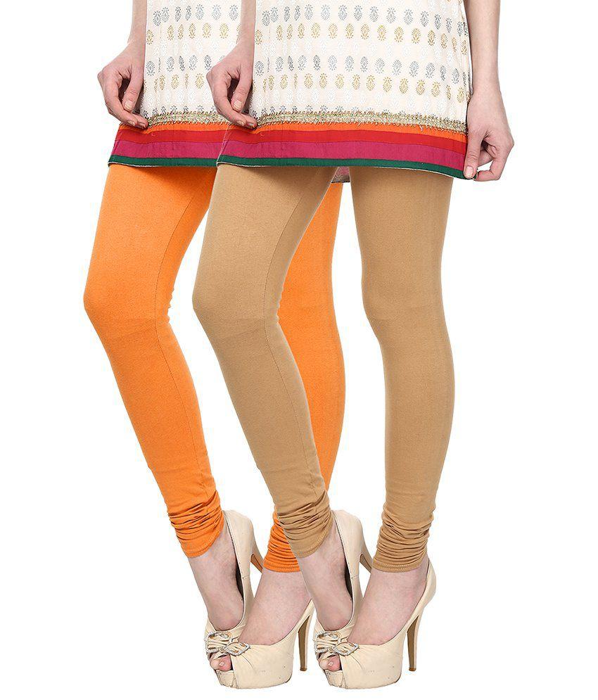 Skyline Trading Orange Cotton Leggings