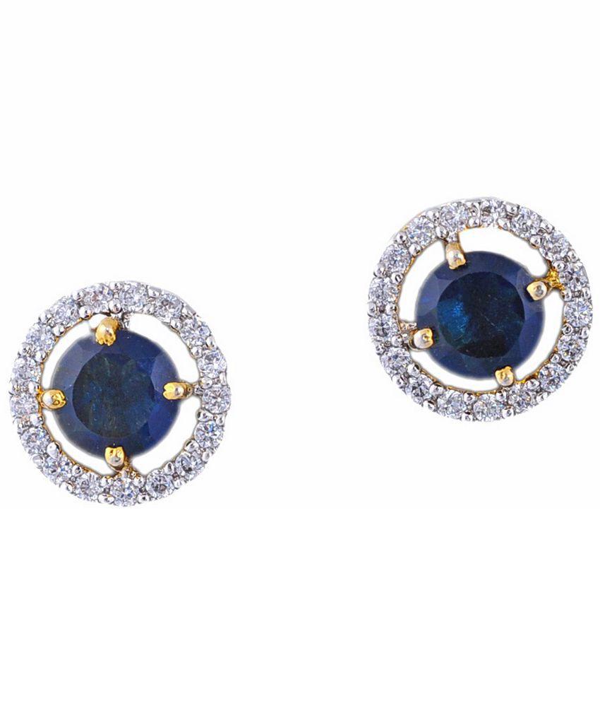 Dreamship Blue Alloy Stud Earring