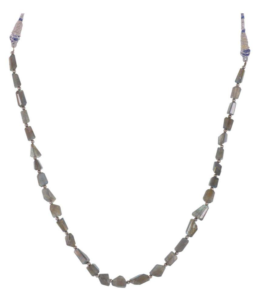 GEMS TREASURE Semi Precious Labrodorite Tumble Necklace