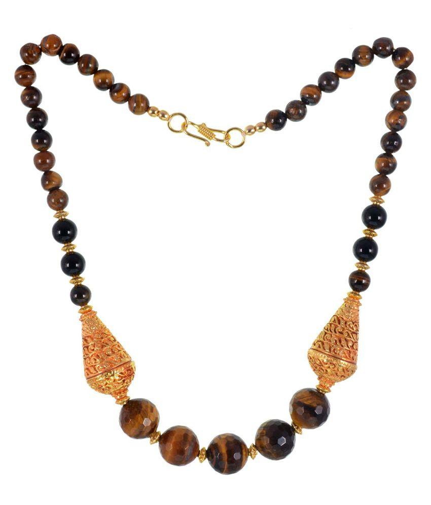 GEMS TREASURE Semi Precious Tiger Eye Necklace