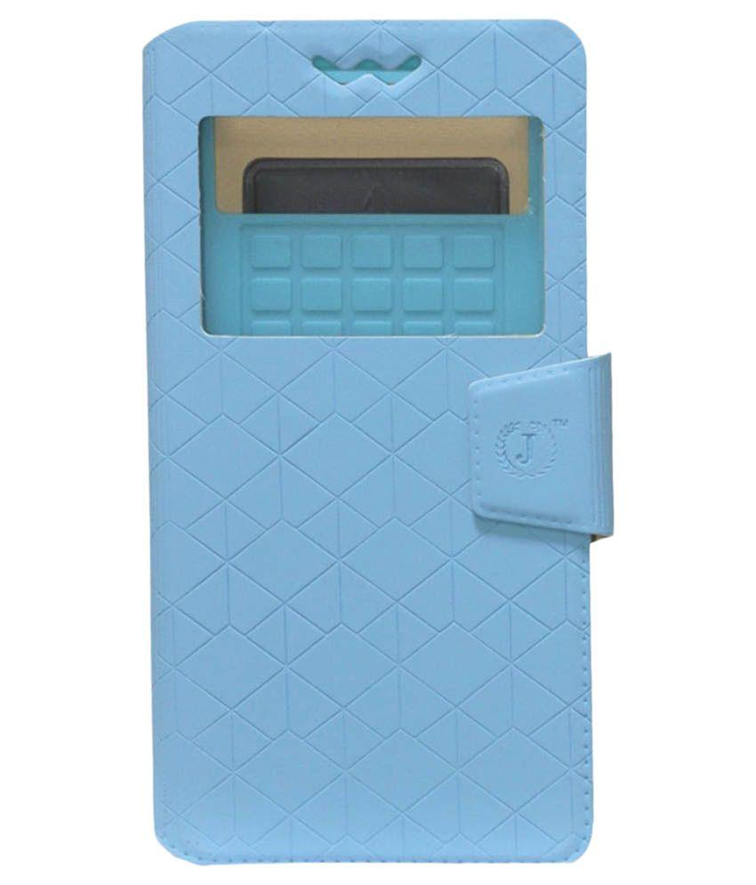 Jo Jo Flip Cover For Redmi 2 (8 Gb) - Blue