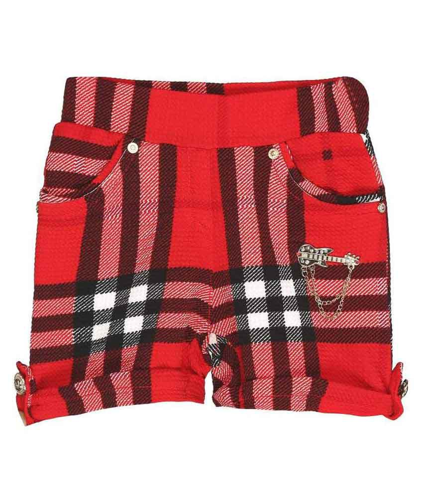 Kittybitty Red Cotton Shorts