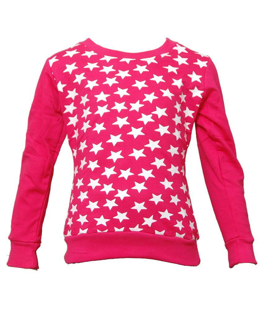 Little Star Pink Cotton Sweatshirt