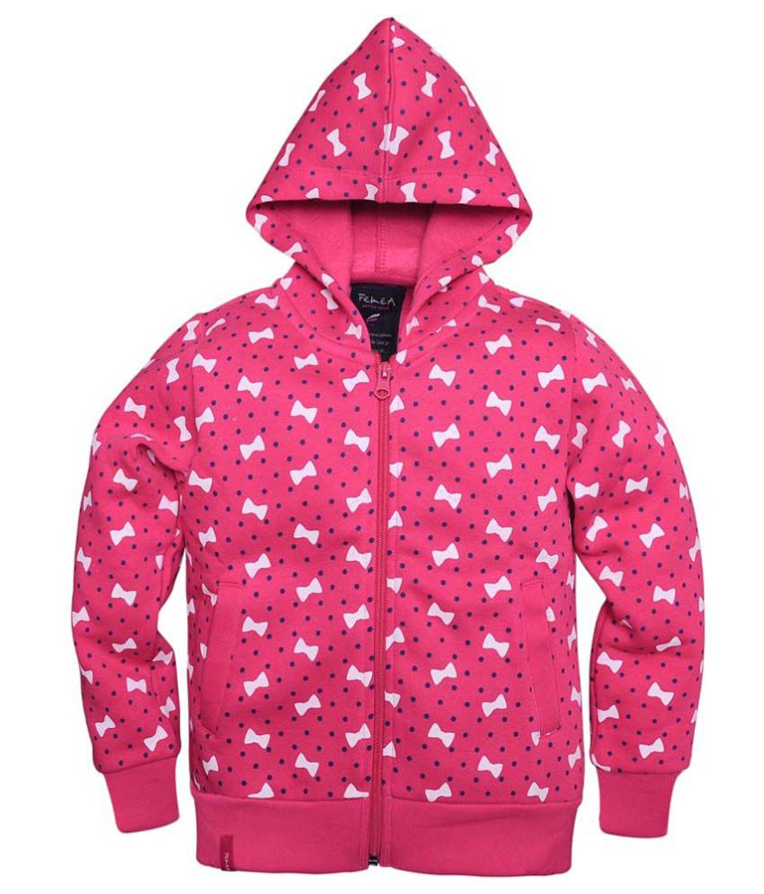 Femea Pink Fleece Sweatshirt