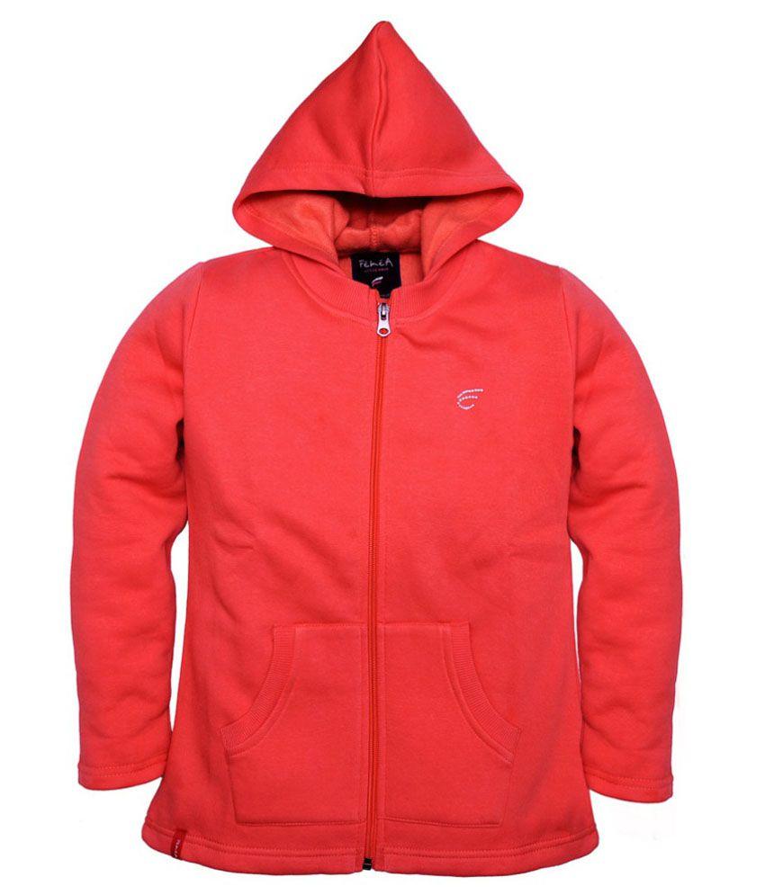 Femea Red Fleece Sweatshirt