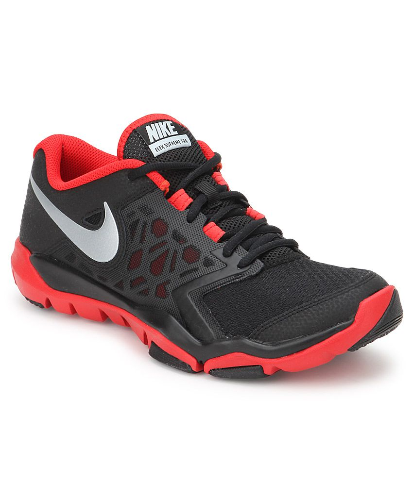 Nike Flex Supreme Tr 4 Black Sport Shoes Online At Best S In India On Snapdeal