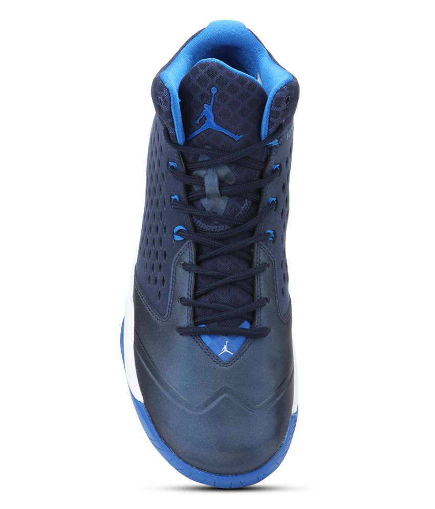on sale 2d17d dc8f4 ... Nike Jordan Rising High Blue Sport Shoes ...