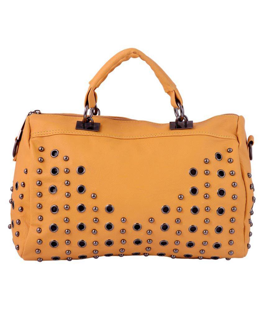 Olive Fashion Golden Yellow Satchel Ba