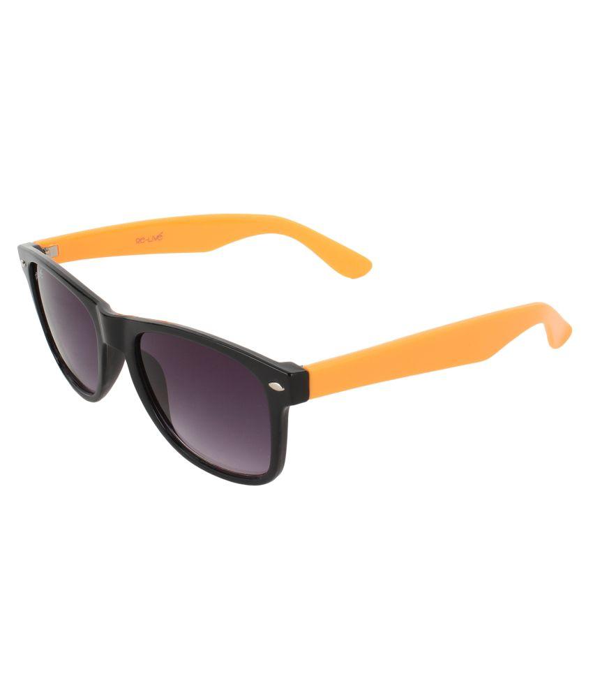 Re-live Purple Medium Men Wayfarer Sunglasses