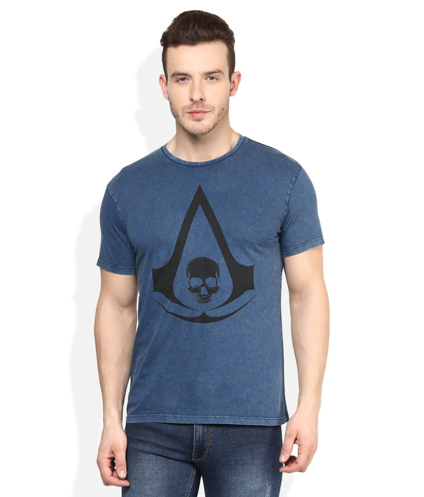 Assassin's Creed Blue Printed T-Shirt
