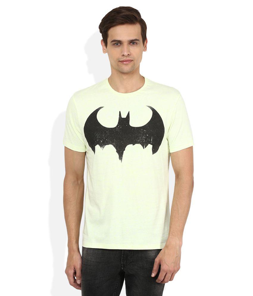 Batman Green Printed T-Shirt