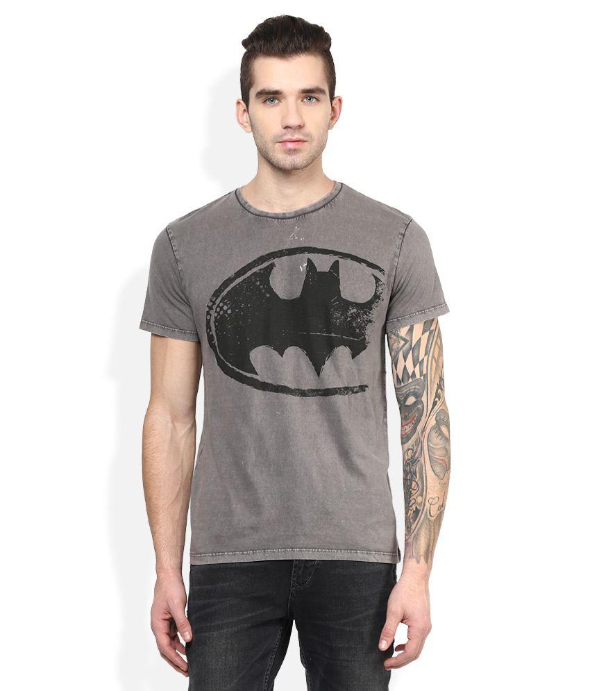 Dc Comics Grey Printed T-Shirt