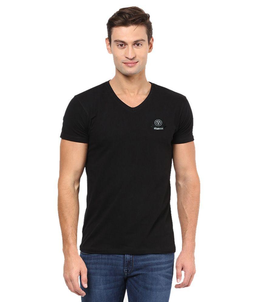 Funky Guys Black Cotton T-shirt