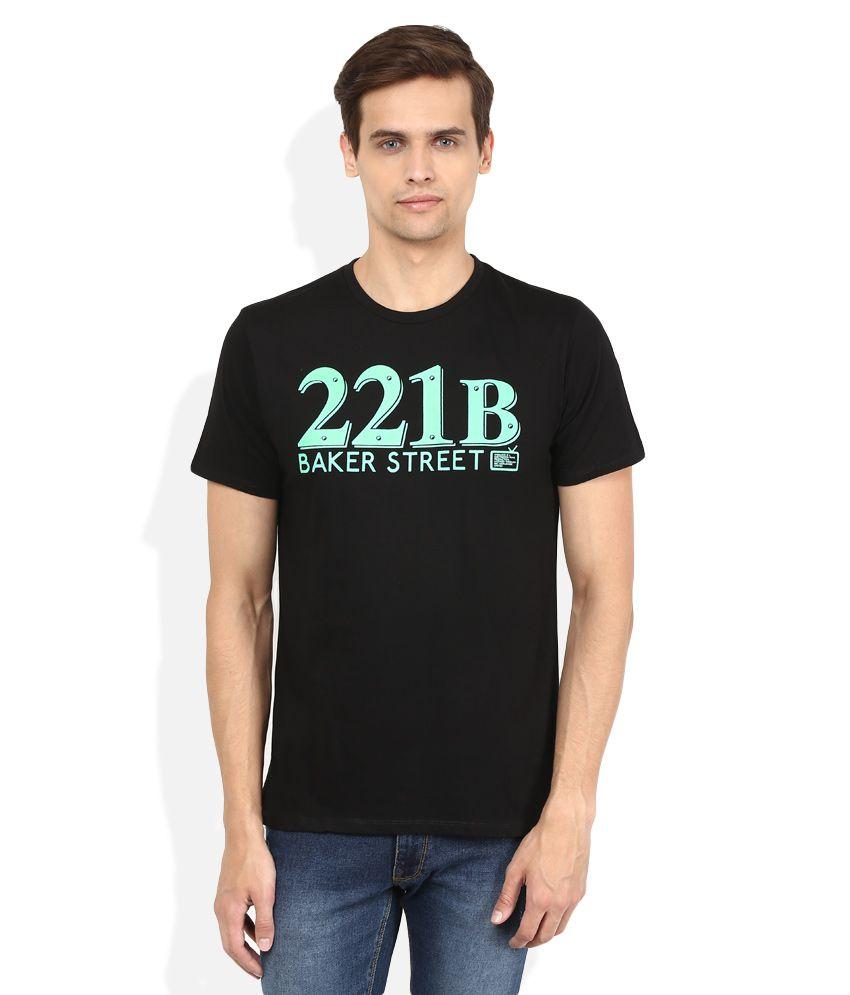 Sherlock Holmes Black Printed T-Shirt