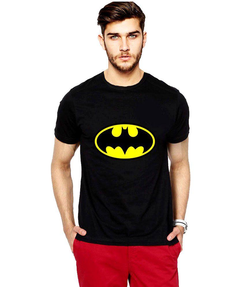 iLyk Batman Men Black Printed T-Shirt