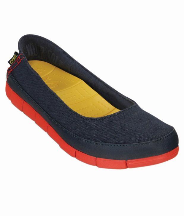 91da494ed Crocs Navy Ballerinas Relaxed Fit Price in India- Buy Crocs Navy Ballerinas  Relaxed Fit Online at Snapdeal