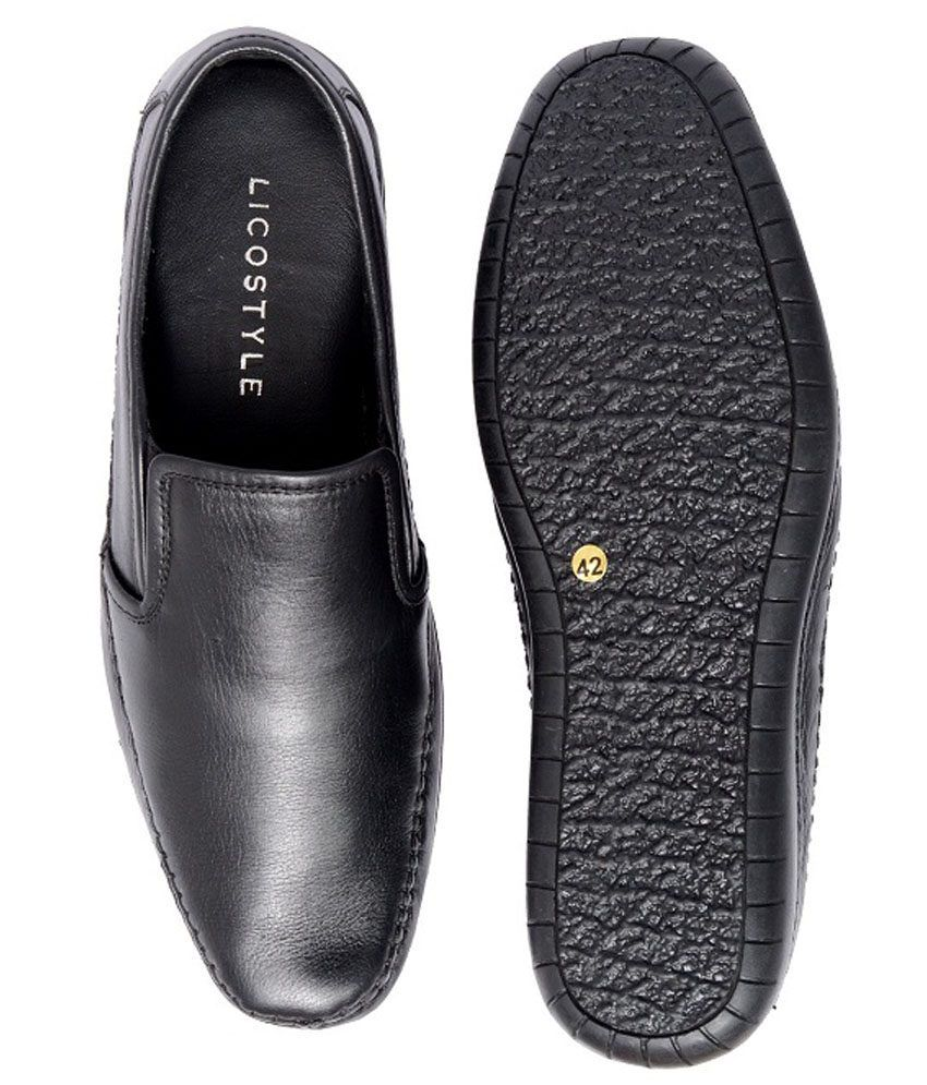 Lico Style Black Formal Shoes Price in