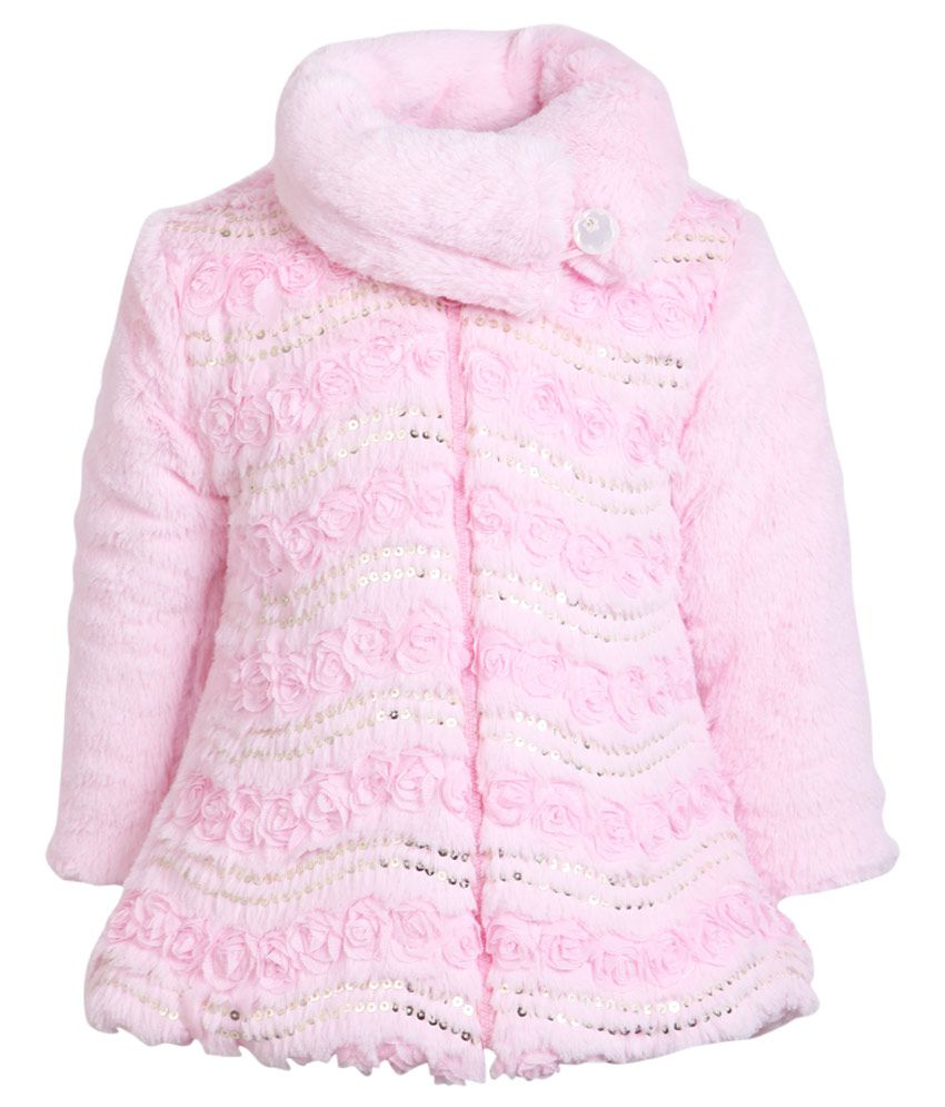 Little Kangaroos Pink Without Hood Full Sleeves Jacket