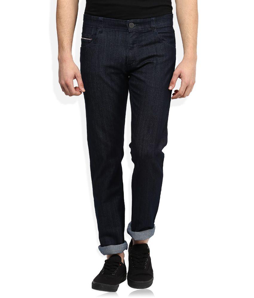 John Player Navy Raw Denim Slim Fit Jeans