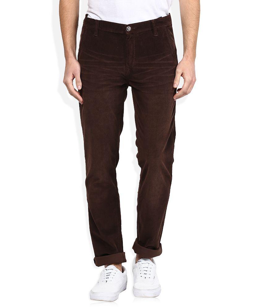 Lee Brown Skinny Fit Corduroy Trousers