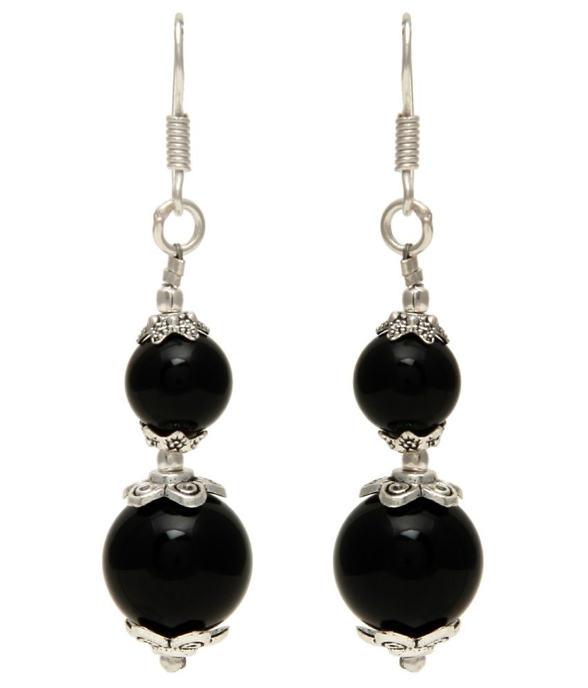 Trend Arrest Black Alloy Hanging Earring