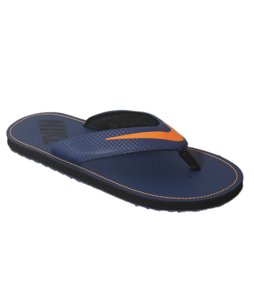 8ee6edc0db7ac Nike Chroma Thong 4 Blue Flip Flops Price in India- Buy Nike Chroma Thong 4  Blue Flip Flops Online at Snapdeal