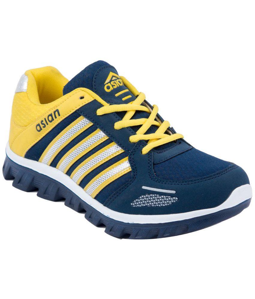Asian Navy Mesh Textile Sport Shoes
