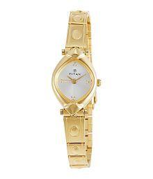 Titan NH2417YM02 Golden Metal Analog Watch