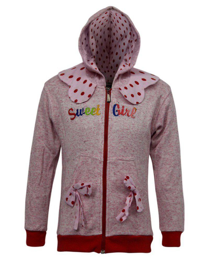 Kothari Pink Fleece Sweatshirt With Hood