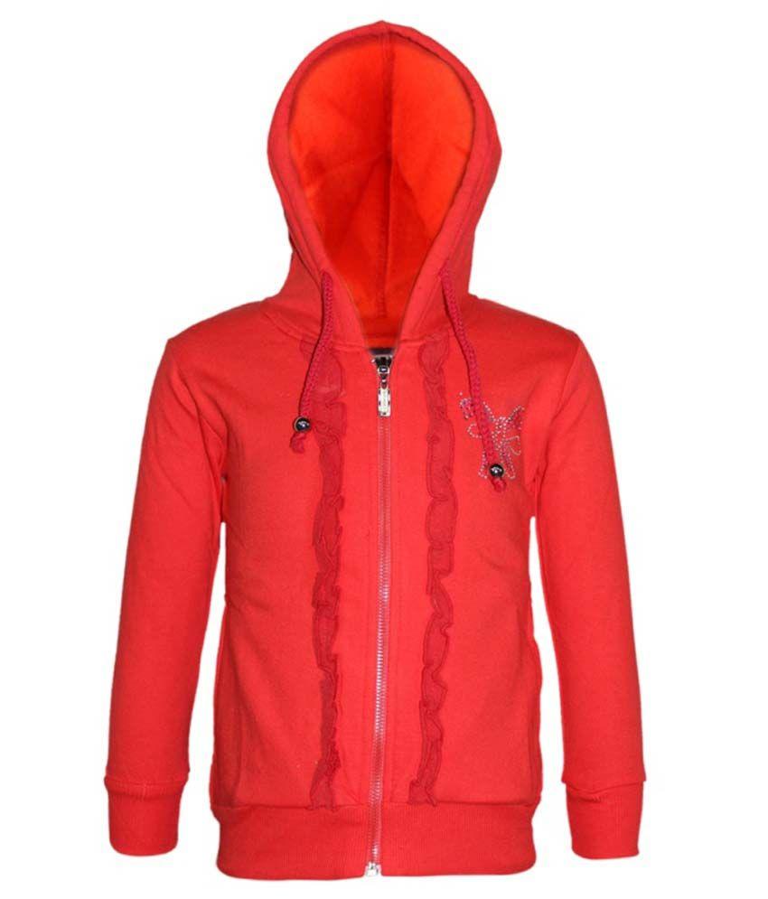 Kothari Red Fleece Hooded Sweatshirt